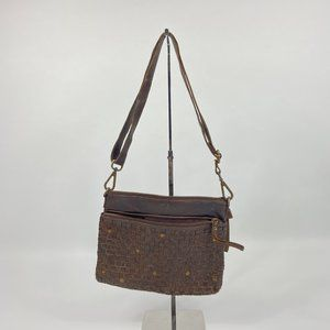 Oak Leathers Purse with Woven Detail